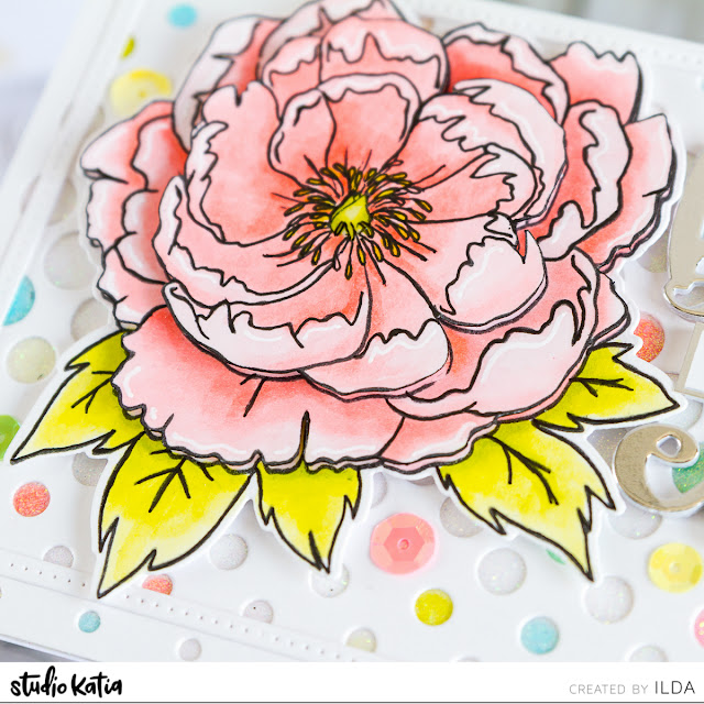Layered Japanese Peony Best Birthday Ever Card by ilovedoingallthingscrafty.com