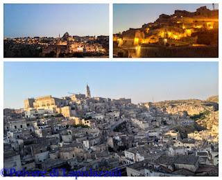 panoramica dei Sassi di Matera al tramonto