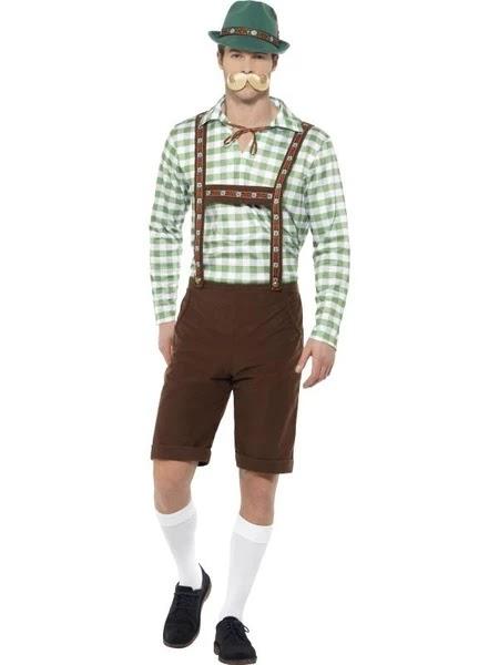 Deluxe Alpine Trenker Hat Oktoberfest German Mens Beer Fancy Dress Costume