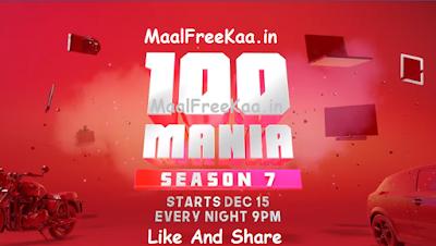100 Mania Season 7 Answer