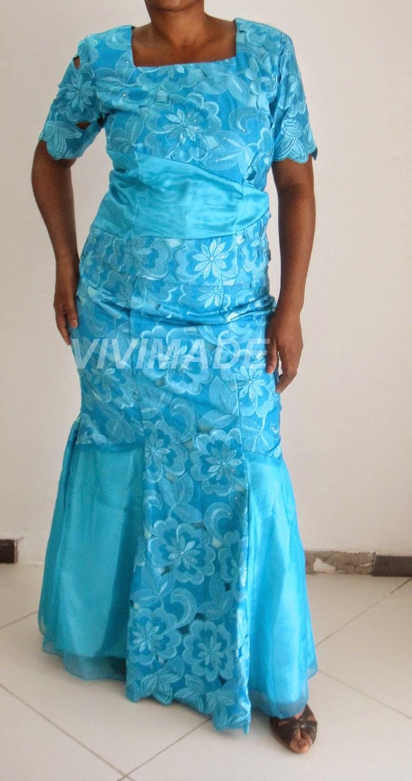 Blue Asoebi : Nigerian wedding guest outfits | Vivimade Creationz