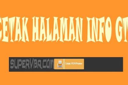 Cara Mencetak Halaman Info GTK Secara Utuh Sesuai Jenis Printer