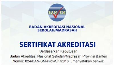 Cara Cetak Sertifikat Akreditasi Sekolah - Madrasah di Akun SISPENA