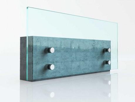 Baranda Vidrio Distanciador a Muro