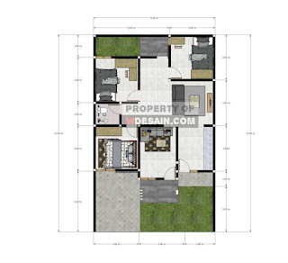 Denah rumah minimalis ukuran 9x13