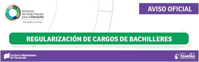 Regularización de Cargos Bachilleres