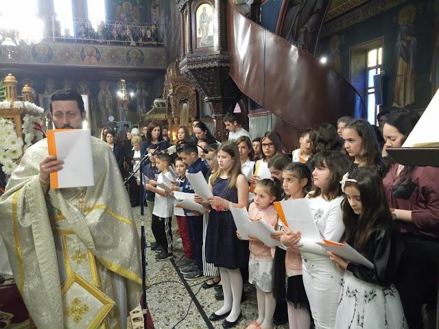 Θεσπρωτία: Η παιδική χορωδία του ναού Ευαγγελίστριας Ηγ/τσας έψαλε εγκώμια του Επιταφίου