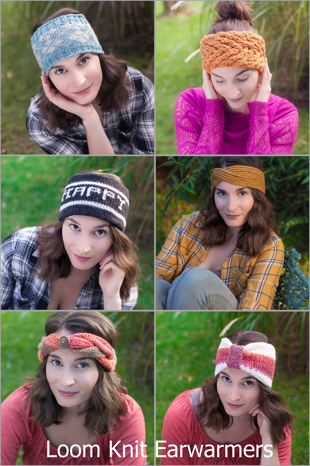 loom knit earwarmer, headband, loom knitting patterns, patterns