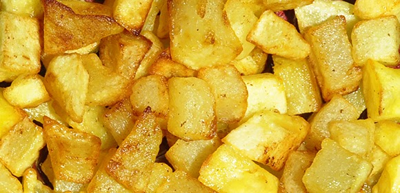 Confessions of a spoon: Diced potatoes fried in butter and