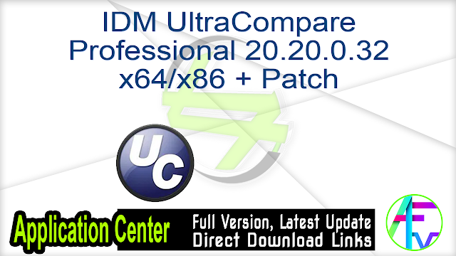 IDM UltraCompare Professional 20.20.0.32 x64-x86 + Patch