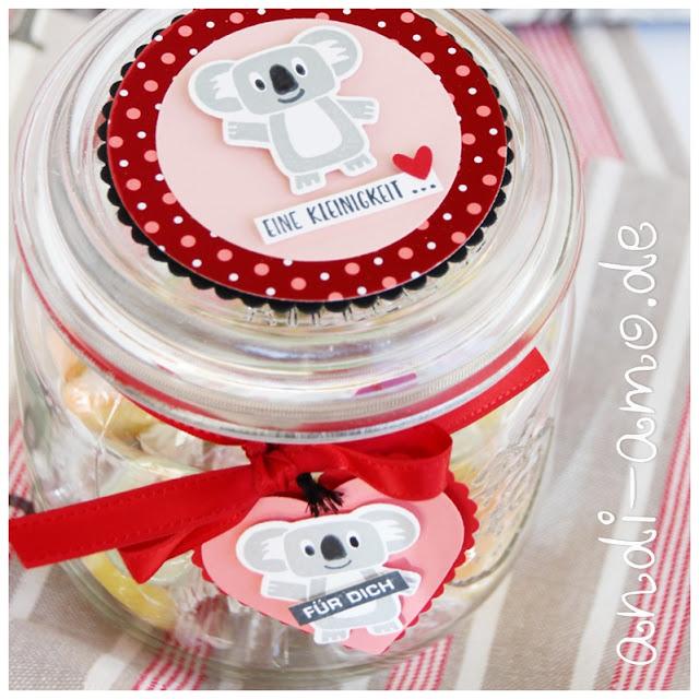 Weckglas Deko für Süßigkeiten DIY andi-amo