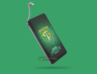 Mockup Custom PowerBank Veger by gubukhijau