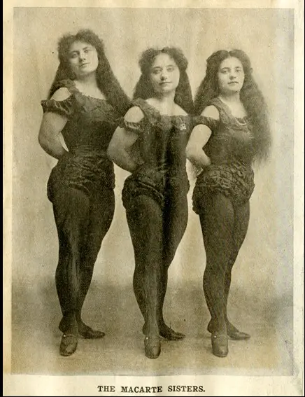 Cecilia, Julia and Adelaide Macarte c.1906.