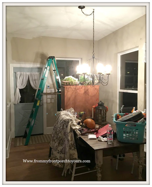 DIY-Breakfast Nook-Sherwin Williams-Agreeable Gray-From My Front Porch To Yours