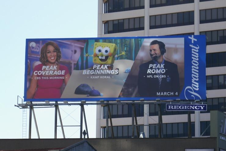 Peak Coverage Beginnings Romo Paramount plus billboard