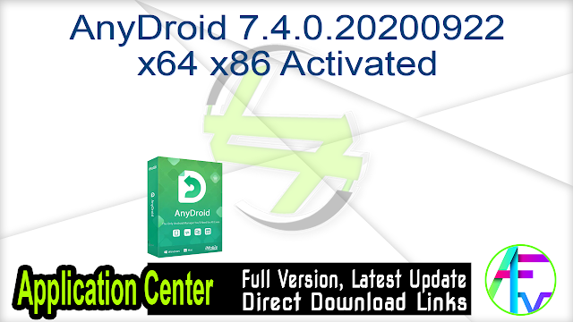 AnyDroid 7.4.0.20200922 x64 x86 Activated