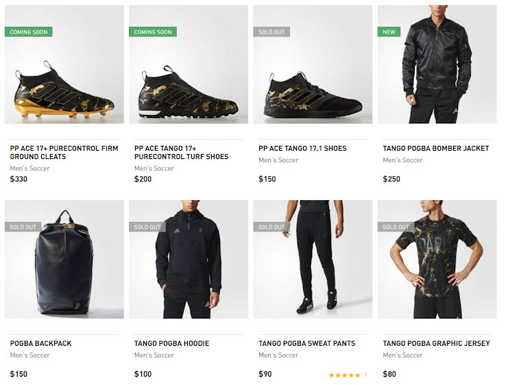 b67e89762e The first-ever Adidas Paul Pogba collection was released yesterday. The  collection includes a ton of luxurious-looking on- and off-pitch products