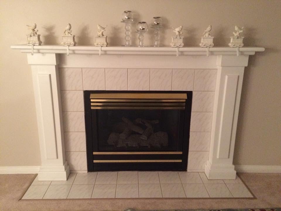 Vintage Amp Varnish Brass Fireplace Insert Makeover