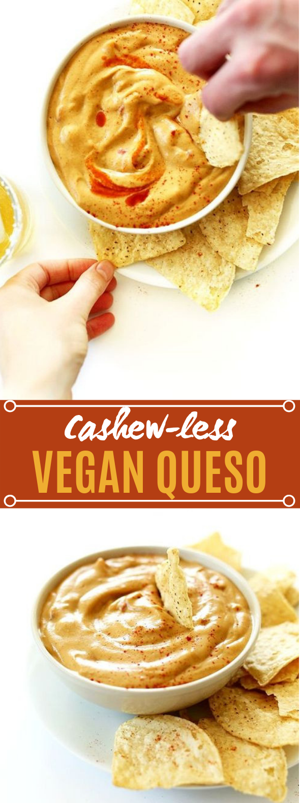 Cashew-less Vegan Queso #sauce #vegetarian