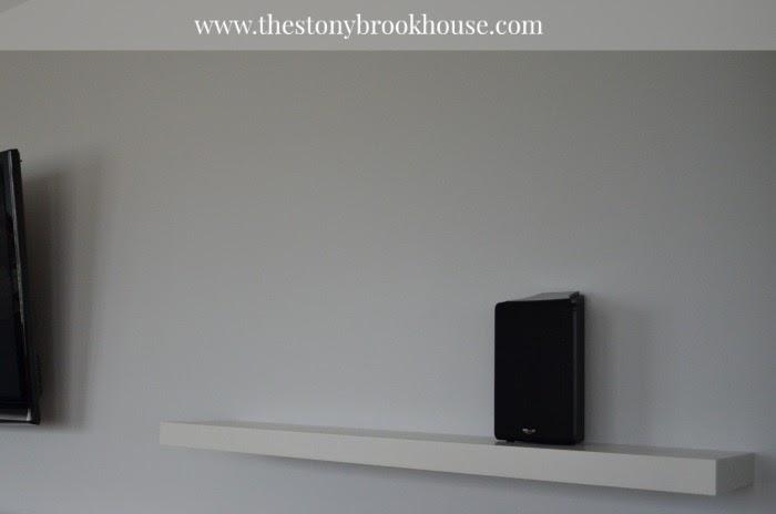 Single Shelf on TV wall