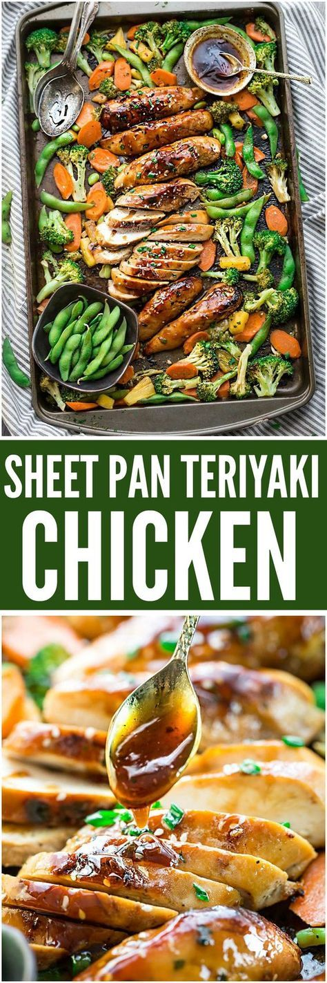 Sheet Pan Teriyaki Chicken is an easy one pan meal made with tender chicken, crispy veggies with the most flavorful sweet and tangy Asian sauce.