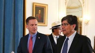 Participación del administrador de USAID, Mark Green, en sesión con la prensa tras la suscripción de Memorando de Entendimiento con el Ministro de Relaciones Exteriores de Ecuador, José Valencia Amores