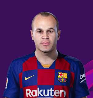 PES 2020 Faces Andrés Iniesta by Tathan