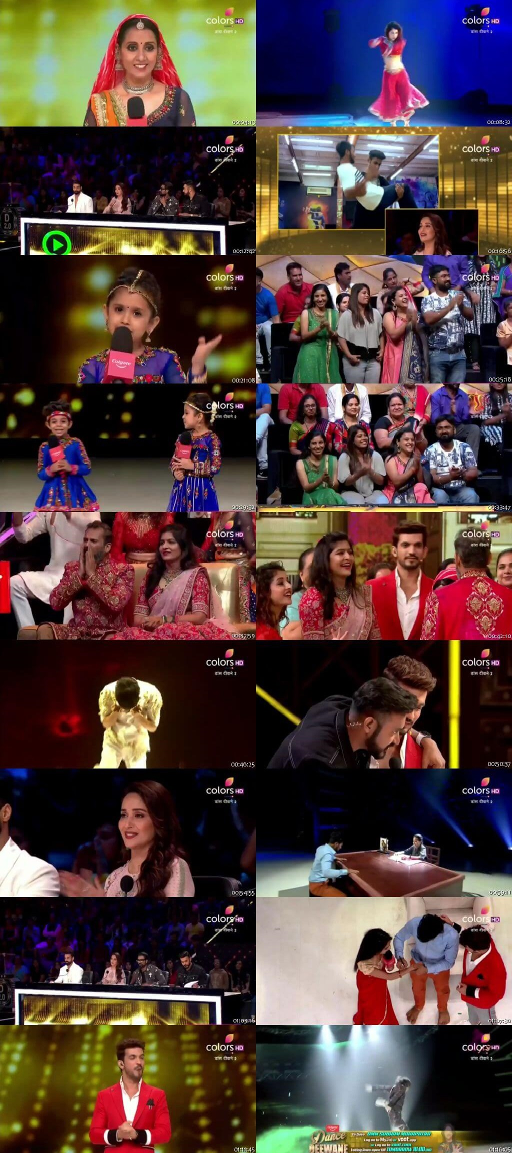 Screenshots Of Hindi Show Dance Deewane 2 8th September 2019 Episode 26 300MB 480P HD