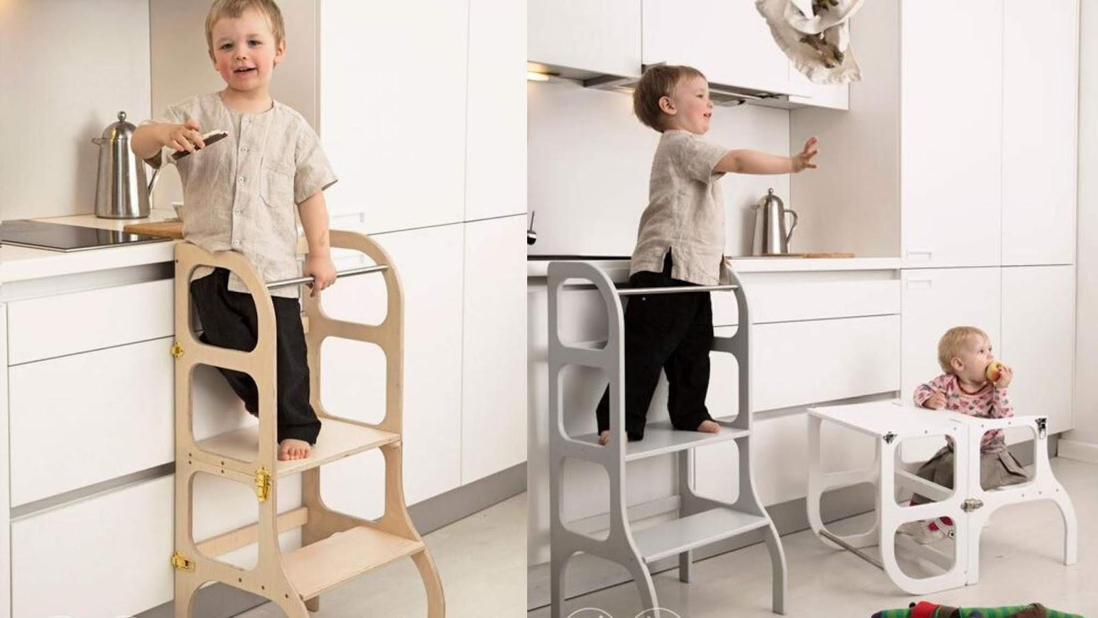 Wieża pomocnicza dla dziecka