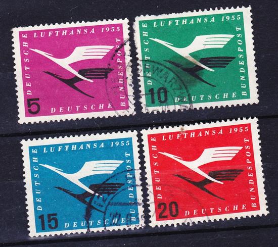 Lufthansa stamps 1955