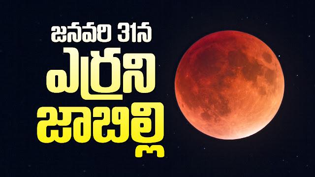 జనవరి 31న ఎర్రని జాబిల్లి Red jabilli on January 31 bhaktipustakalu