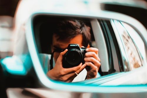 Holding Camera Infront of a mirror