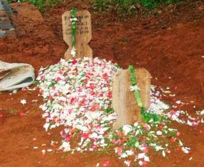 penampakan hantu pocong di kuburan bikin merinding