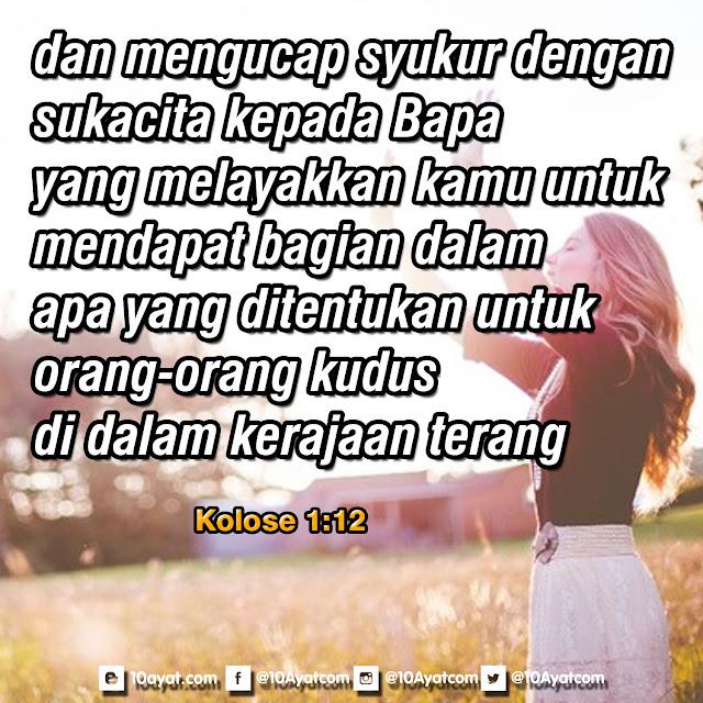 Kolose 1:12