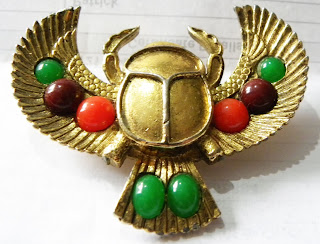 Egyptian scarab brooch by Exquisite