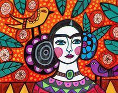 Frida Kahlo Cubism Art Print