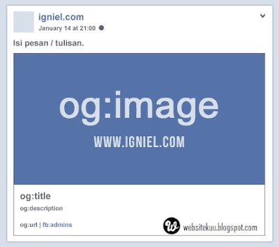 Struktur Dari Meta Tag Facebook Open Graph