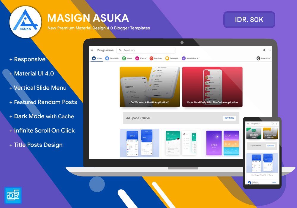 Masign Asuka - Free Blogger Template