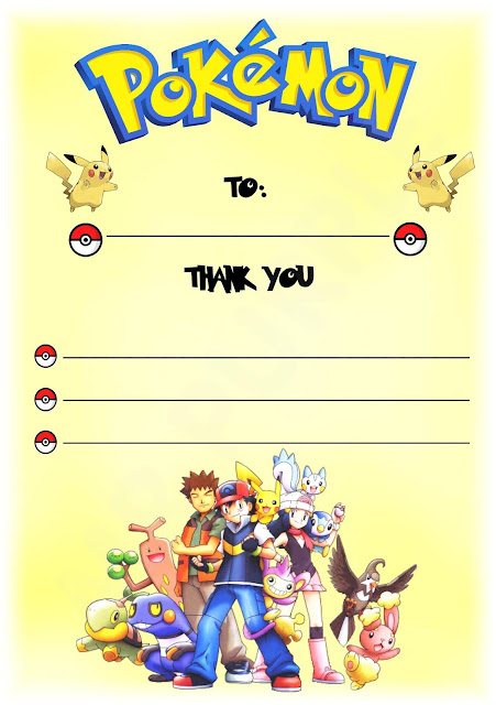 Pokemon Birthday Invitations Ideas
