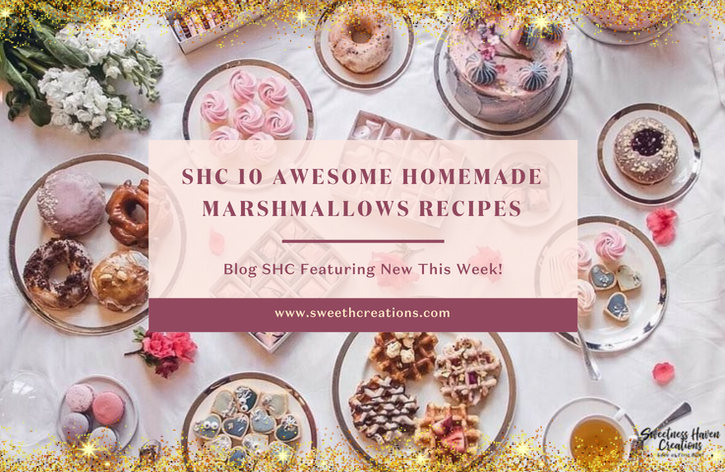 It may be a sticky endeavour, but making your very own springy, fluffy 'Marshmallows' at home is remarkably easy. SHC brings you 'SHC 10 AWESOME HOMEMADE MARSHMALLOW RECIPES' for you to try and enjoy it with your loved ones! Visit www.sweethcreations.com now! #sweetnesshavencreations #homemade #dessert #dessertrecipes #bestdessertrecipes  #marshmallow