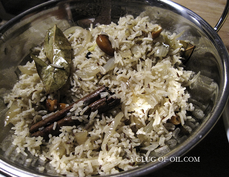 Jeera rice in a bowl