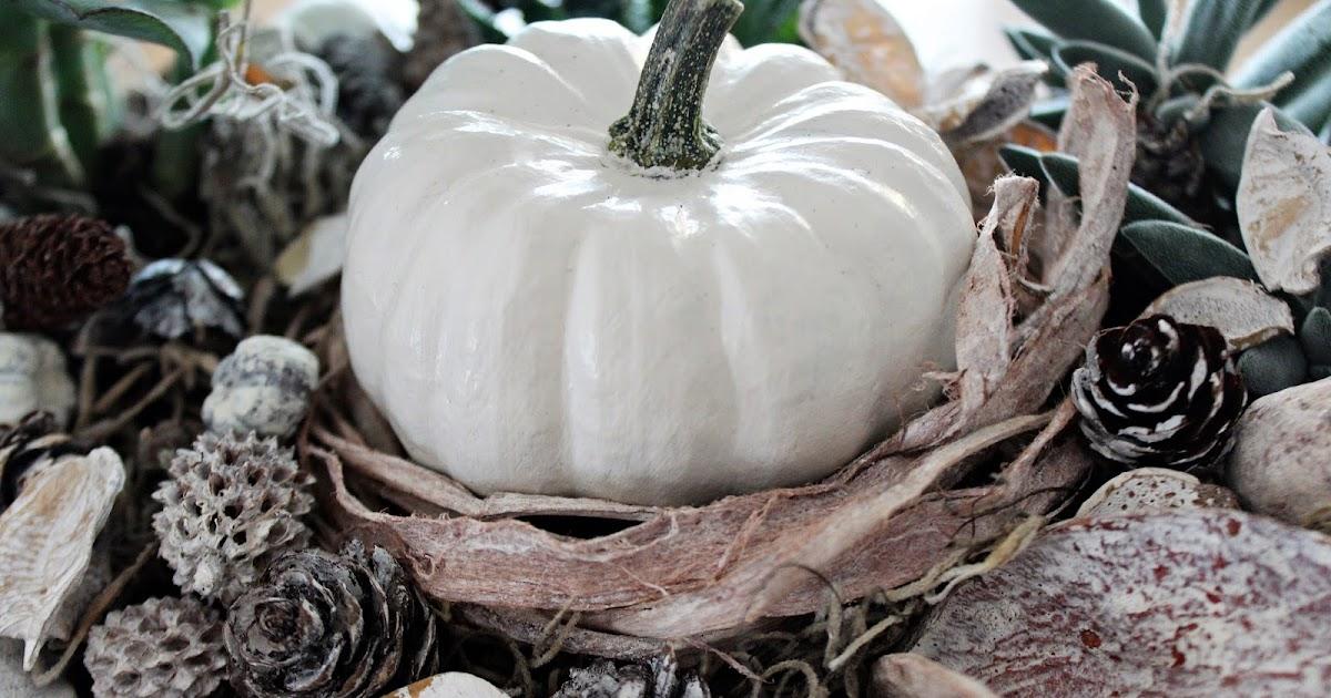 Shabbylinas Welt .....wie es mir gefällt: Herbstdeko mit Kürbissen ...