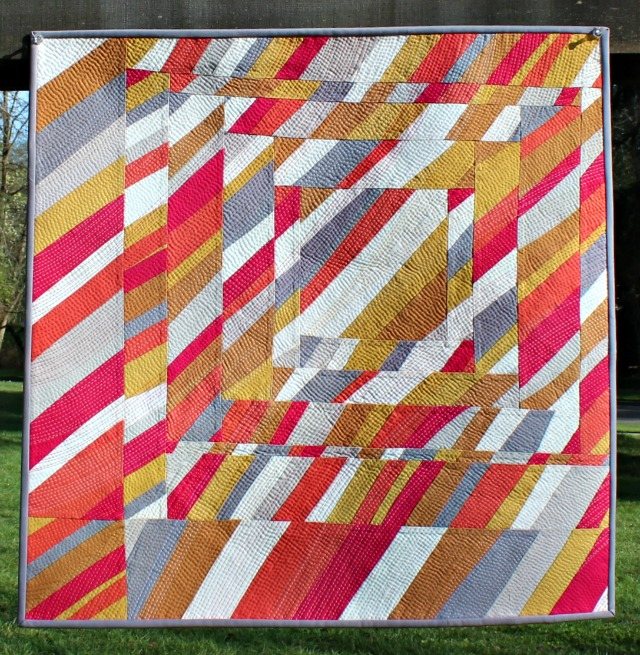 Inspiration blog post series - StringSong, quilt made by Debbie Jeske - A Quilter's Table