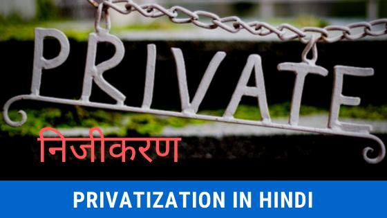 Privatization In India In Hindi