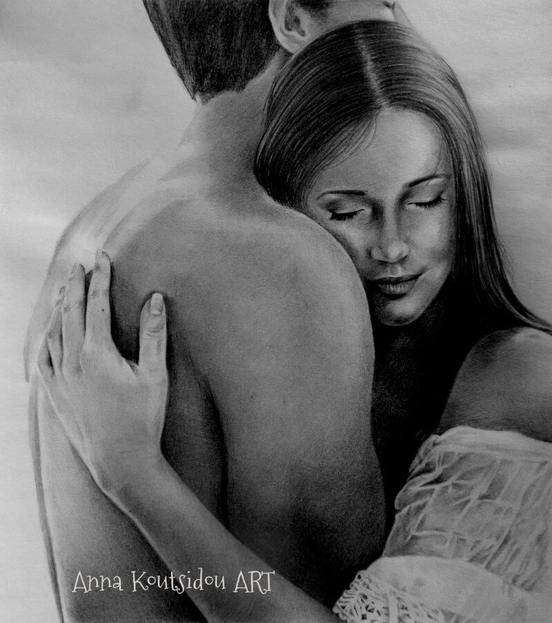 20 Mind-Blowing Pencil Drawings By Greek Artist That Illustrate The Beauty Of Love - Let's grow old together