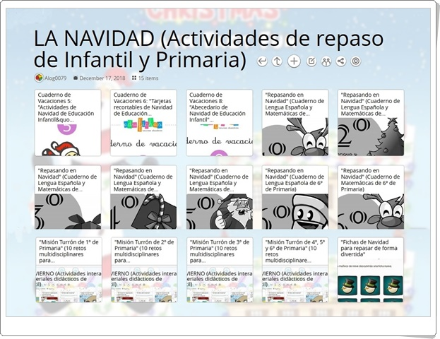 """""""15 actividades de Repaso de Infantil y Primaria en NAVIDAD"""""""