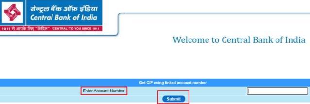 Central Bank Cif Number Online