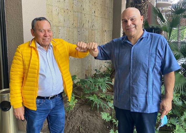 Fortaleciendo la relación bilateral con el presidente del #PAN en Baja California  @PAN_CDEBCS, Enrique Méndez Juárez para caminar en una gran alianza: Jesús Zambrano. Twitter
