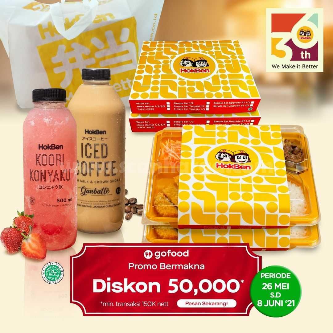 Promo HOKBEN DISKON Rp.50.000 melalui GOFOOD