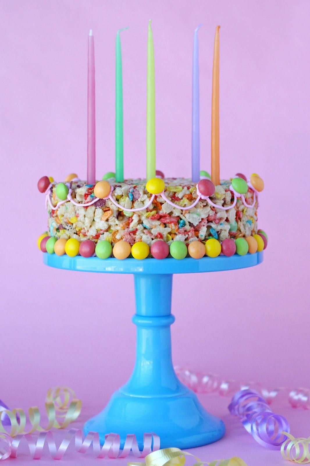 Outstanding Fruity Pebbles Treats Cake Glorious Treats Personalised Birthday Cards Sponlily Jamesorg